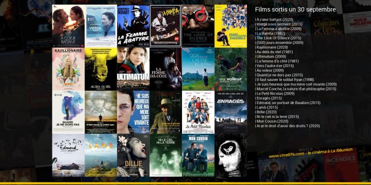 Films sortis un 30 septembre