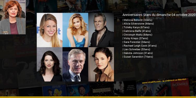 Anniversaires des acteurs du dimanche 04 octobre 2020
