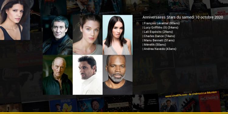 Anniversaires des acteurs du samedi 10 octobre 2020