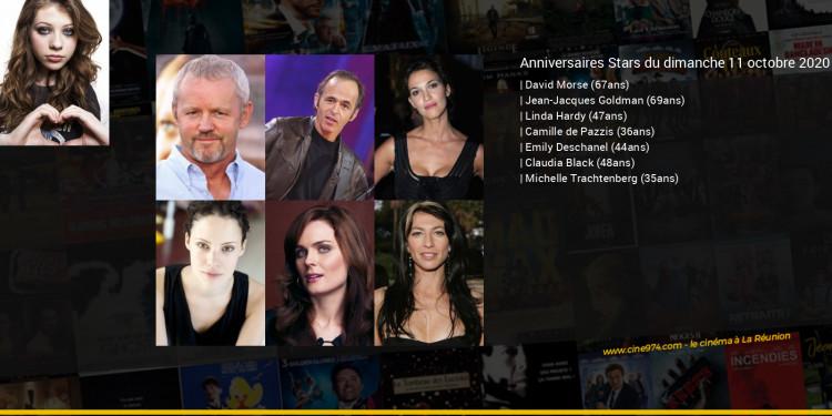 Anniversaires des acteurs du dimanche 11 octobre 2020