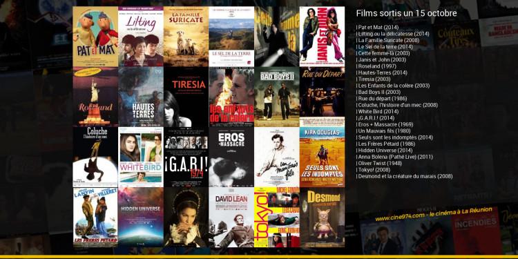 Films sortis un 15 octobre
