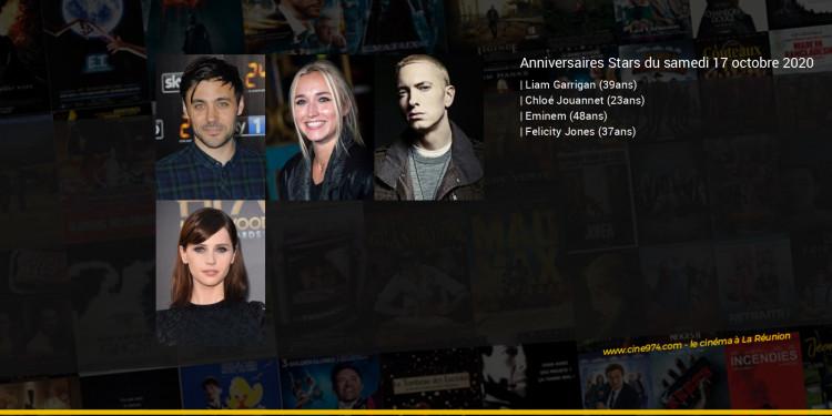 Anniversaires des acteurs du samedi 17 octobre 2020