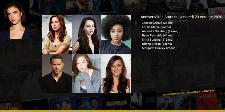 Anniversaires des acteurs du vendredi 23 octobre 2020