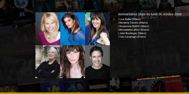 Anniversaires des acteurs du lundi 26 octobre 2020