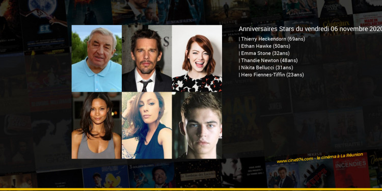 Anniversaires des acteurs du vendredi 06 novembre 2020