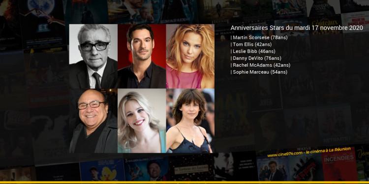 Anniversaires des acteurs du mardi 17 novembre 2020