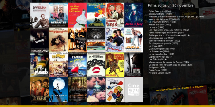 Films sortis un 20 novembre