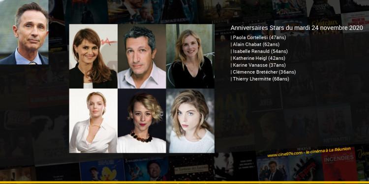 Anniversaires des acteurs du mardi 24 novembre 2020
