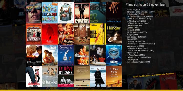 Films sortis un 26 novembre