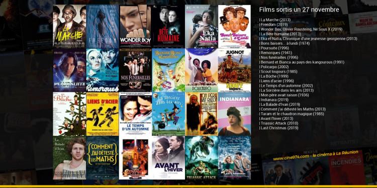Films sortis un 27 novembre