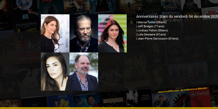 Anniversaires des acteurs du vendredi 04 décembre 2020