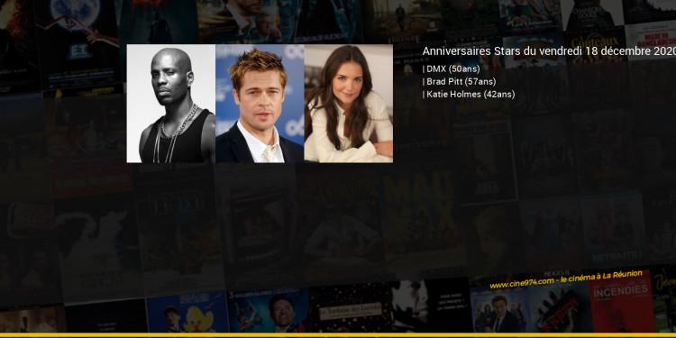 Anniversaires des acteurs du vendredi 18 décembre 2020