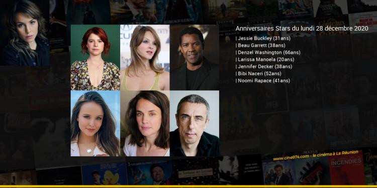 Anniversaires des acteurs du lundi 28 décembre 2020