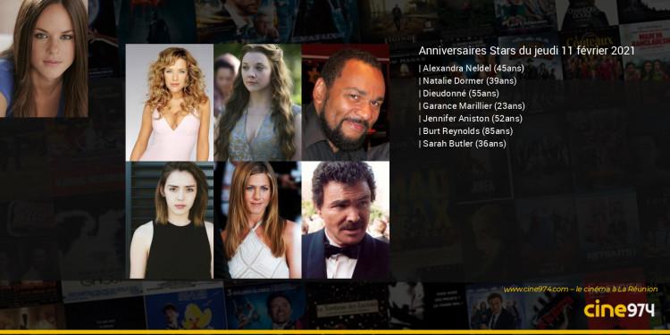 Anniversaires des acteurs du jeudi 11 février 2021