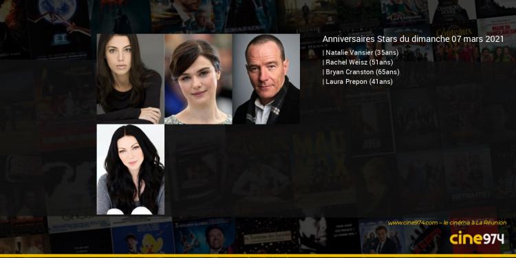 Anniversaires des acteurs du dimanche 07 mars 2021