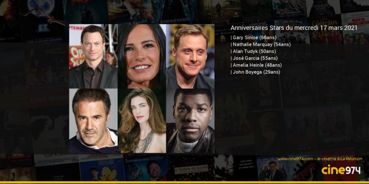 Anniversaires des acteurs du mercredi 17 mars 2021