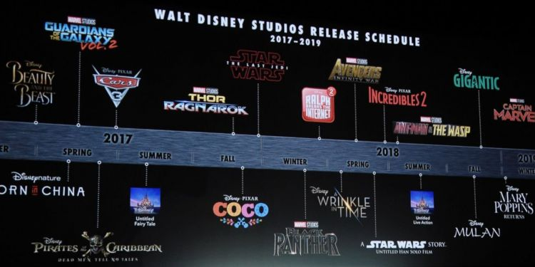 Le planning des sorties cinéma des studios Disney pour les 3 prochaines années
