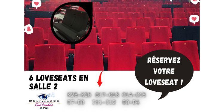 Love Seats 💕 en salle 2 au Multiplexe Ciné Cambaie