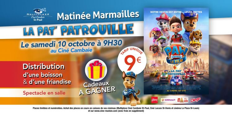 Matinée Marmailles : La Pat'Patrouille le film