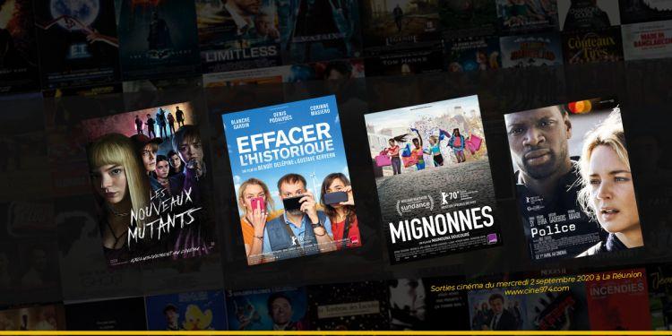 Programme cinéma de la semaine du 2 septembre 2020 à La Réunion