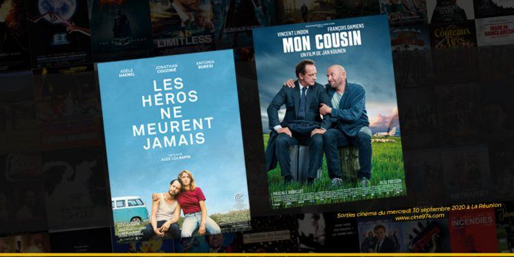 Programme cinéma du 30 septembre 2020 à La Réunion