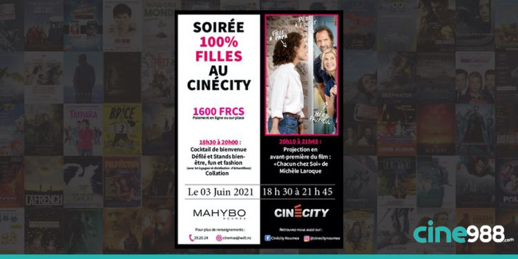 News Cinéma Soirée 100% filles au CinéCity - 3 JUIN 2021