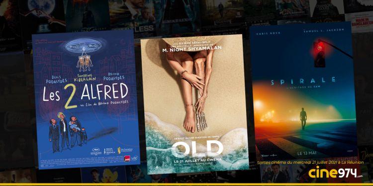 Sorties cinéma du mercredi 21 juillet à La Réunion 🇷🇪 : Old, Spirale l'héritage Saw, Les 2 Alfred...