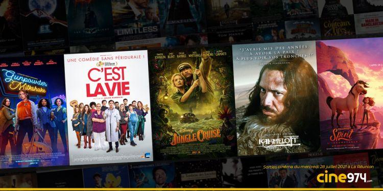 Sorties cinéma du mercredi 28 juillet à La Réunion 🇷🇪 : Kaamelott, Jungle Cruise, Bloody Milkshake...