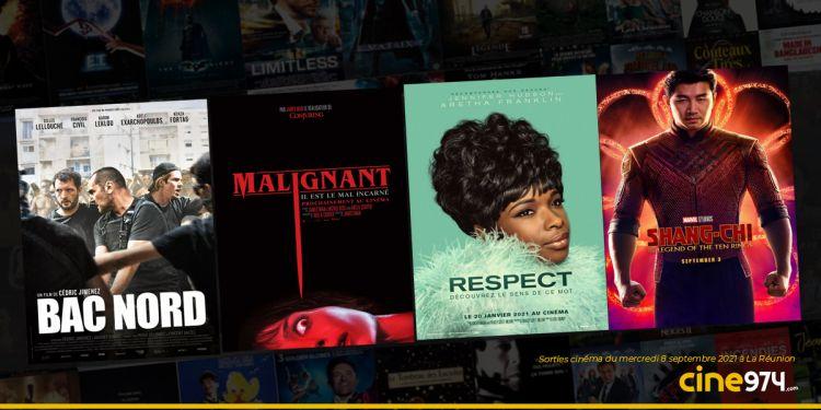 Sorties cinéma du mercredi 8 septembre à La Réunion 🇷🇪 : Bac Nord, Malignant, Respect, Shang-Chi