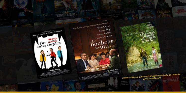 Sorties et Programme Cinéma de la semaine du mercredi 16 septembre 2020 à La Reunion