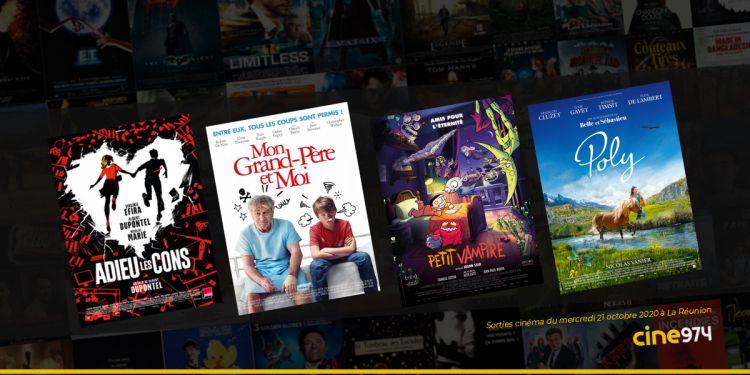 Sorties et Programme Cinéma de la semaine du mercredi 21 octobre 2020 à La Réunion