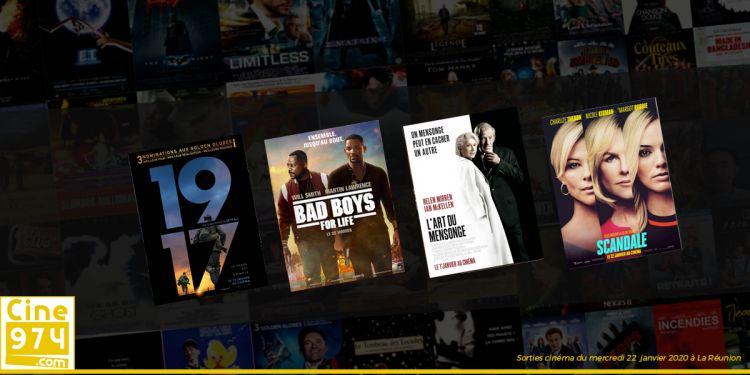 Sorties et Programme Cinéma de la semaine du mercredi 22 janvier 2020 à La Réunion