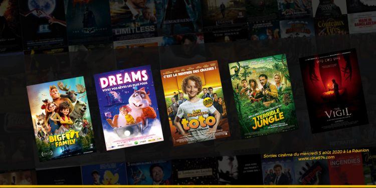 Sorties et Programme Cinéma de la semaine du mercredi 5 août 2020 à La Reunion