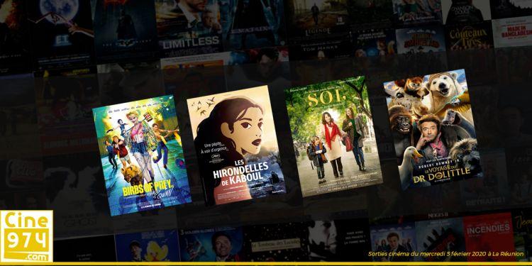 Sorties et Programme Cinéma de la semaine du mercredi 5 février 2020 à La Réunion