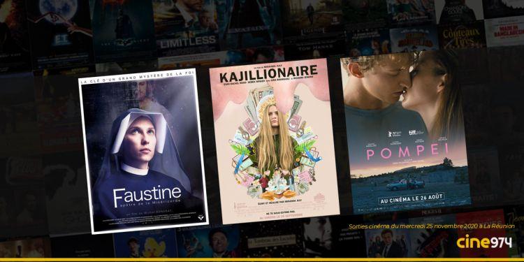 Sorties et Programme Cinéma du mercredi 25 novembre 2020 à La Réunion