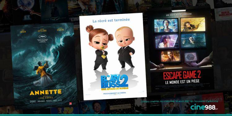 News Cinéma Sorties et programme cinema du mercredi 18 août en Nouvelle-Calédonie 🇳🇨