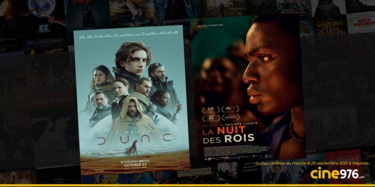 News Cinéma Sorties et programme cinema du mercredi 29 septembre à Mayotte 🇾🇹