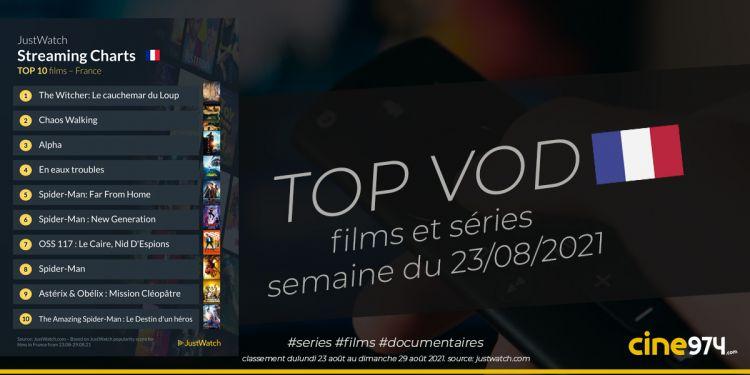 TOP 10 Films Et Séries En SVOD En France / Semaine Du 23 Août 2021