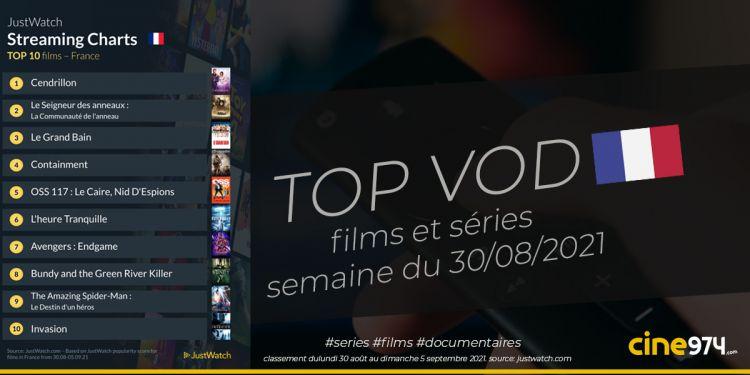 TOP 10 Films Et Séries En SVOD En France / Semaine Du 30 Août 2021