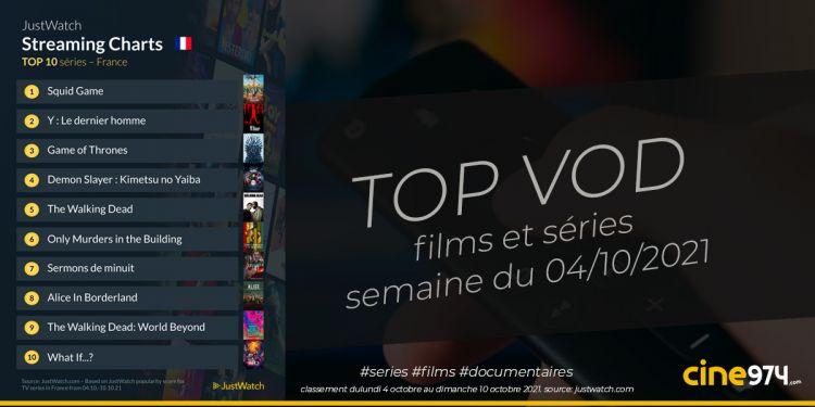 TOP 10 Films Et Séries En SVOD En France / Semaine Du 4 Octobre 2021