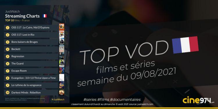 TOP 10 Films Et Séries En SVOD En France / Semaine Du 9 Août 2021