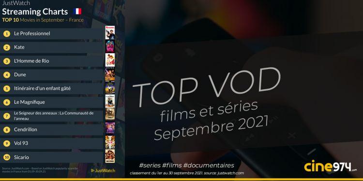 TOP 10 films et séries en VOD en France / septembre 2021